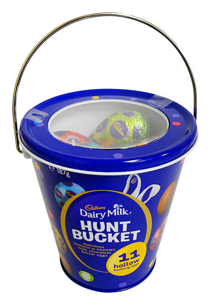 Cadbury Hunt Bucket, by Cadbury,  and more Confectionery at The Professors Online Lolly Shop. (Image Number :14395)