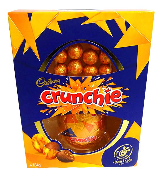 Cadbury Crunchie Egg Gift Box, by Cadbury,  and more Confectionery at The Professors Online Lolly Shop. (Image Number :14383)