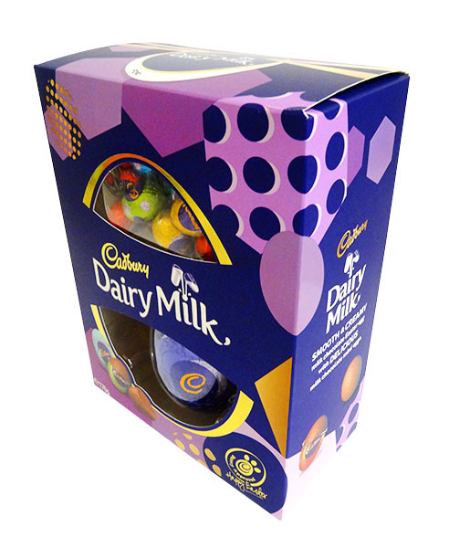 Cadbury Dairy Milk Egg Gift Box, by Cadbury,  and more Confectionery at The Professors Online Lolly Shop. (Image Number :14387)