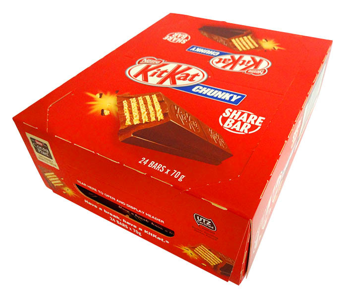 Kit Kat Chunky - Share pack, by Nestle,  and more Confectionery at The Professors Online Lolly Shop. (Image Number :14535)