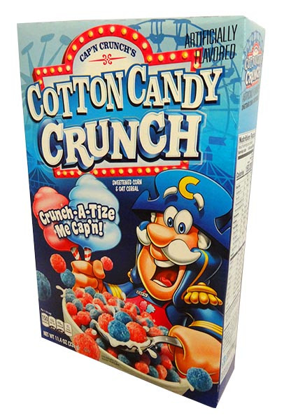 Cap n Crunch - Cotton Candy and more Snack Foods at The Professors Online Lolly Shop. (Image Number :14550)