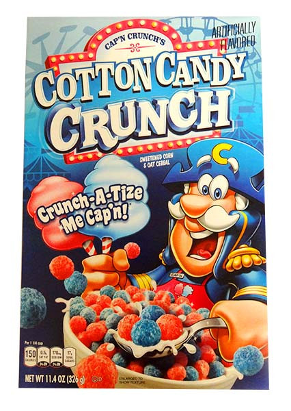 Cap n Crunch - Cotton Candy and more Snack Foods at The Professors Online Lolly Shop. (Image Number :14551)