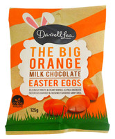 Darrell Lea The Big Orange Eggs ( 125g bag) B/B 2/12/20