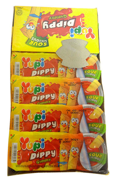 Yupi Dippy Gummy Chips and Sauce - Sour and more Confectionery at The Professors Online Lolly Shop. (Image Number :14638)