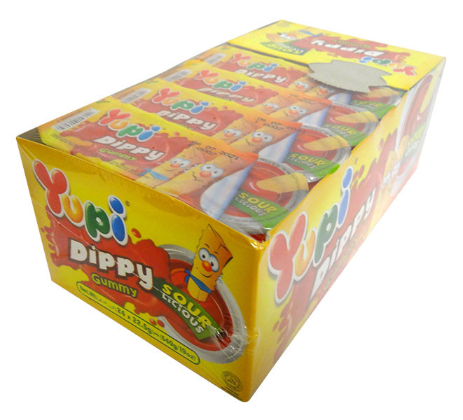 Yupi Dippy Gummy Chips and Sauce - Sour and more Confectionery at The Professors Online Lolly Shop. (Image Number :14639)