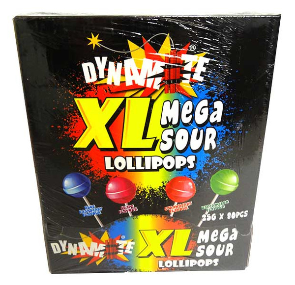 Dynamite XL Sour Lollipops and more Confectionery at The Professors Online Lolly Shop. (Image Number :14598)