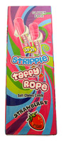Jo Jo Stripple Taffy Rope - Strawberry (24 x 25g in a Display Box)
