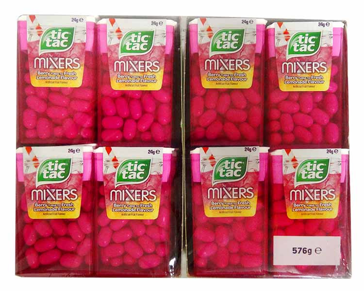 Tic Tac - Mixers Berry and Lemonade, by Ferrero,  and more Confectionery at The Professors Online Lolly Shop. (Image Number :14823)