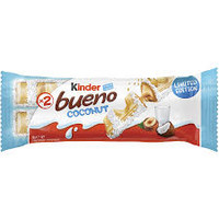 Kinder Bueno - Coconut - B/B Nov 2020, by Kinder Bueno,  and more Confectionery at The Professors Online Lolly Shop. (Image Number :14839)