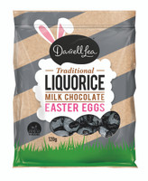 Darrell Lea Milk Chocolate Liquorice Foiled Eggs, by Darrell Lea,  and more Confectionery at The Professors Online Lolly Shop. (Image Number :14937)