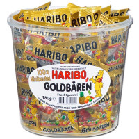 Haribo MiniBags - Gold Bears Tub, by Haribo,  and more Confectionery at The Professors Online Lolly Shop. (Image Number :14945)