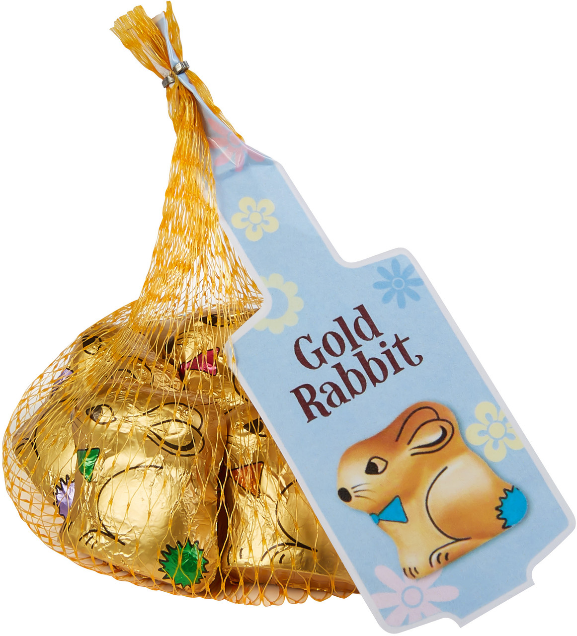 Gold Easter Bunny s Net - Milk Chocolate and more Confectionery at The Professors Online Lolly Shop. (Image Number :14946)
