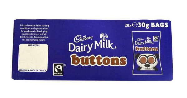 Cadbury Dairy Milk Buttons, by Cadbury,  and more Confectionery at The Professors Online Lolly Shop. (Image Number :10385)