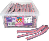 TNT Sour Straps Grape - Purple and Pink, by TNT,  and more Confectionery at The Professors Online Lolly Shop. (Image Number :12916)