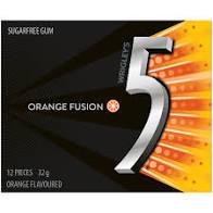 Wrigleys 5 Gum - Orange Fusion (12pieces x 10 pack)