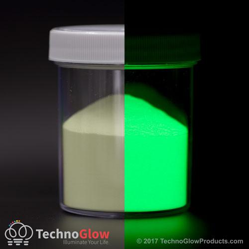 Green Glow in the Dark & UV Powder <85 Microns Waterproof