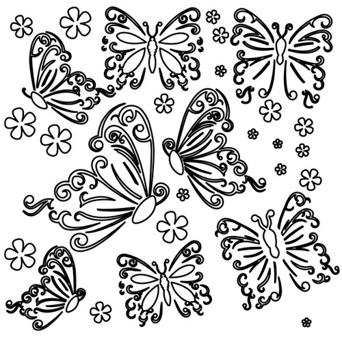 Butterflies Design Template - Small