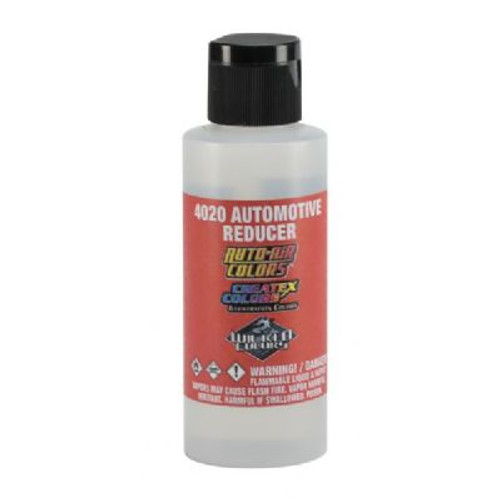Specialty thinner for use when painting in humid or cold conditions. Makes paint flow easily with minimal tip-dry. Colors dry faster, cure to a harder coating compared with reducing with 4012 high performance reducer.  2 fl. oz.