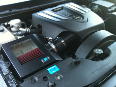 cold air inductions intake system black textured powder coated 2006 09 trailblazer ss tick. Black Bedroom Furniture Sets. Home Design Ideas
