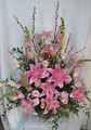 Pink Lily Urn