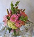 Pink and Green Sympathy Vase
