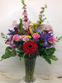Bright and beautiful mixed fresh arrangement.