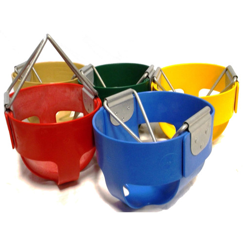Tot Full Bucket Polymer Infant Swing Seat - Residential (S107) - 5 Colors - USA Made