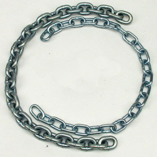 "Sold by the foot. 3/16"" Zinc Coated Chain"