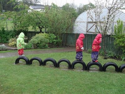 Creative Uses For Recycled Tires On Your Playground