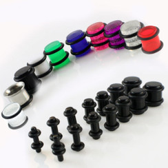18 piece acrylic plug color choices