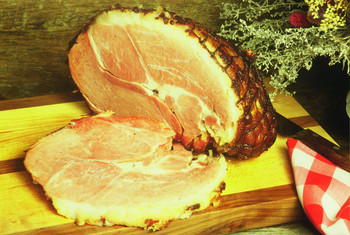 Sugar Cured Ham Hickory Smoked Fully Cooked ready to enjoy! Fully trimmed and de-boned so there is no waste on this ham.