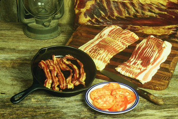 10 pounds of Hickory Smoked Bacon, Vacume packed in one pound packages for convenience and storage.