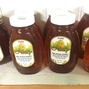 Pure Tennessee Honey, 16 oz net weight ONE POUND GLASS JAR
