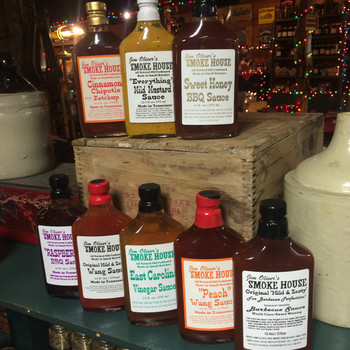 These all have that great Classic Smoke House BBQ sauce flavor. Comes in the timeless and classic 'Flask Bottle', of course you know that the BEST Whiskey comes in a flask bottle from Tennessee, well...so does BBQ sauce, it comes from Jim Oliver's Smoke House!