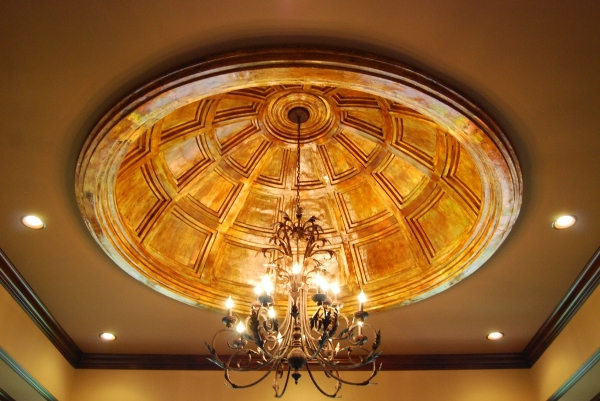Custom 13' X 9' Multi-Level Leaded Glass Dome Ceiling. by ...