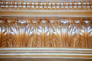 Gold finish on our DM712 Crown Molding