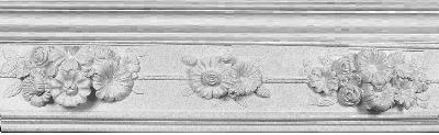 Decorative Floral Bouquet Plaster Molding