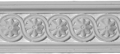 Circular and Flower Pattern Plaster Molding