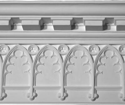 Trefoil Gothic Pattern Plaster Molding