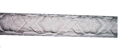 Cross Ribbon and Flower Plaster Molding