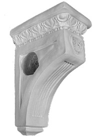 This standard size corbel is also a drapery bracket