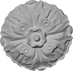 Round Rosette featuring acanthus leaf with decorative center flower