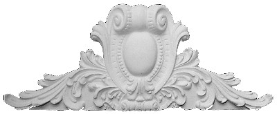 Applique CRA13 - Acanthus Leaves, scrolling volute and shield