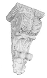A Classic Corbel Bracket featuring acanthus leaves, beads and shell shapes
