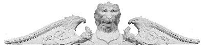 Lion Head and Birds of Prey cast plaster applique CRA38