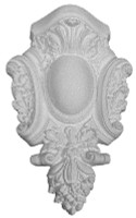 Applique CRA39 with Acanthus leaf and ribbon like, scrolling details