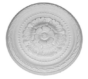 "12"" round floral cast plaster rosette / Applique CRA61"