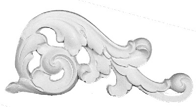 Applique CRA70-R Scrolling acanthus leaf - Right