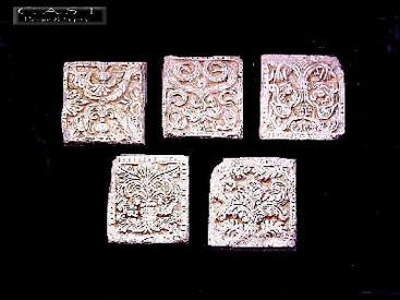 Set of Five Decorative Cast Plaster Plaques CRA86