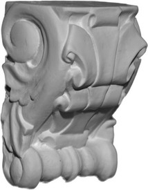 Classic Corbel Bracket with scrolls and flowing ribbons
